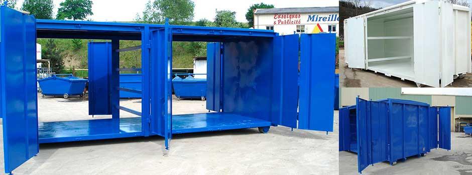 Boxes et containers aménagés