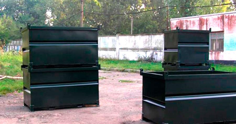 Petits conteneurs métalliques
