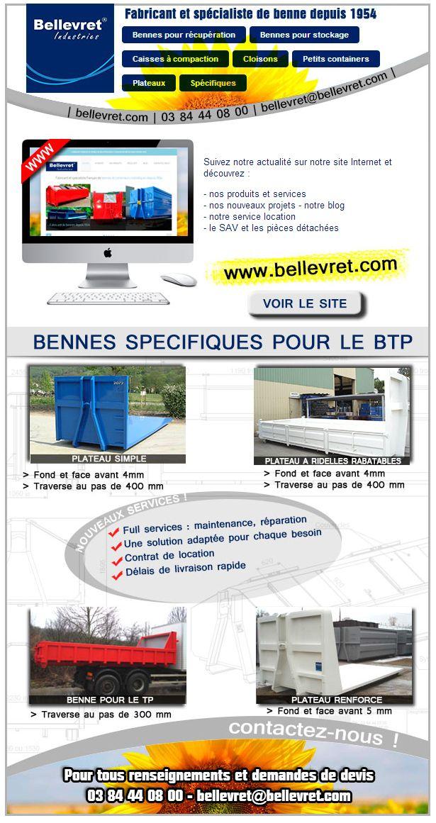bennes et plateaux Bellevret Industries